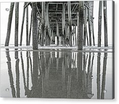 Under The Pier Sunrise Classic Acrylic Print