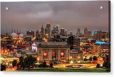 Union Station Sunrise 2 Kansas City Missouri Art  Acrylic Print