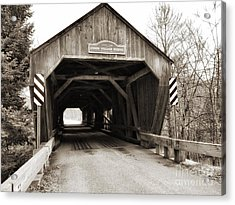 Union Village Covered Bridge Acrylic Print