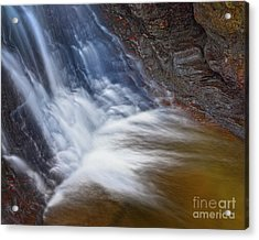 Acrylic Print featuring the photograph Upper Cascade 10 by Patrick M Lynch