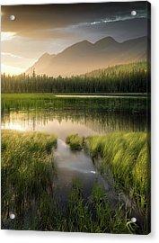 Upper Whitefish Golden Light / Whitefish, Montana  Acrylic Print