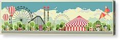Urban Amusement Park Circus Tent Acrylic Print