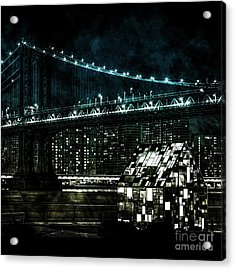 Urban Grunge Collection Set - 15 Acrylic Print