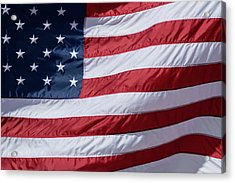 Us Flag Wave Acrylic Print