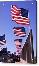 U.s. Flags, Presidents Day, Central Valley, California Acrylic Print