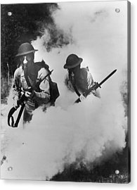 Us Infantry Acrylic Print by Hulton Archive