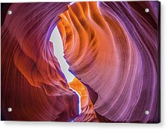 Usa, Arizona, Antelope Canyon, Close-up Acrylic Print