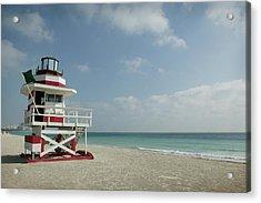 Usa, Florida, South Beach, Lifeguard Acrylic Print