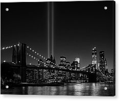 Usa, New York City, View Over Hudson Acrylic Print