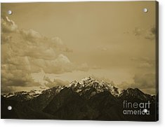 Utah Mountain In Sepia Acrylic Print