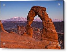 Utahs Delicate Arch At Dusk Acrylic Print