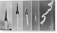 V-2 Bomb In Flight Acrylic Print by Keystone