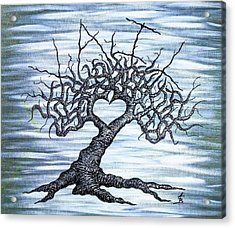 Acrylic Print featuring the drawing Vail Love Tree by Aaron Bombalicki