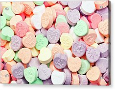 Valentines Candies With Message Acrylic Print by Kativ