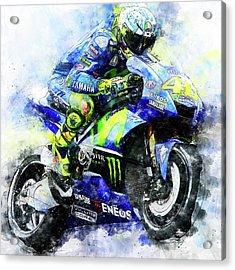 Valentino Rossi - 18 Acrylic Print by Andrea Mazzocchetti