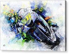 Valentino Rossi - 20 Acrylic Print