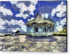 Van Gogh Bandstand  Acrylic Print
