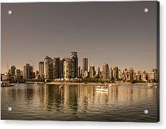 Vancouver Golden Light Hour Acrylic Print
