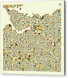 Vancouver Map 1 Acrylic Print