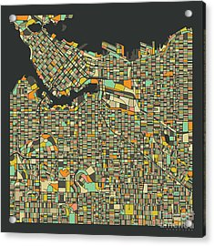 Vancouver Map 2 Acrylic Print by Jazzberry Blue