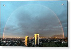 Vancouver Rainbow Acrylic Print