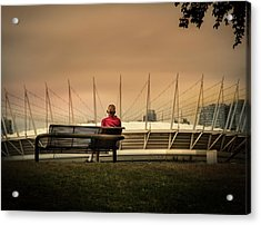 Vancouver Stadium In A Golden Hour Acrylic Print