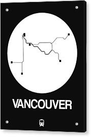 Vancouver White Subway Map Acrylic Print