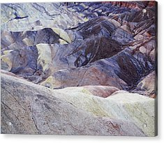 Variegated Hills Of Zabriskie Point Acrylic Print