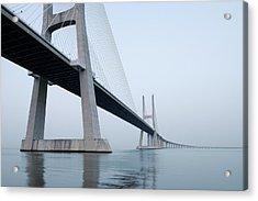 Vasco Da Gama Bridge, Tagus River Acrylic Print