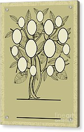 Vector Family Tree Design With Frames Acrylic Print