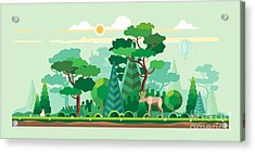Vector Flat Illustrations - Eco Style Acrylic Print