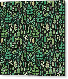 Vector Forest Design, Floral Seamless Acrylic Print
