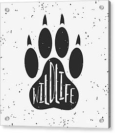 Vector Hand Drawn Typographic Poster Acrylic Print