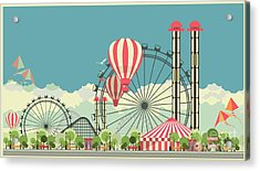 Vector Holiday Background With Carnival Acrylic Print