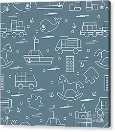 Vector Illustration Kids Toys Objects Acrylic Print