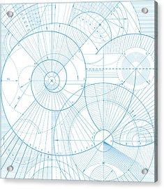 Vector Illustration Of A Technical Acrylic Print