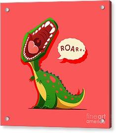 Vector Illustration Of Dinosaur Is Acrylic Print
