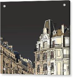 Vector Illustration Of Facades In Paris Acrylic Print