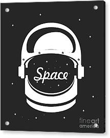 Vector Illustration Poster Space Helmet Acrylic Print