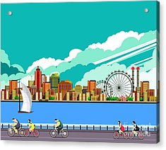 Vector Illustration Promenade Ride A Acrylic Print