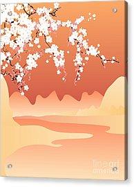 Vector Japan Background Acrylic Print
