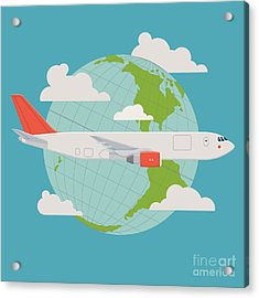 Vector Modern Delivery Web Icon On Acrylic Print by Mascha Tace