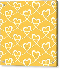 Vector Seamless Pattern With Stylized Acrylic Print