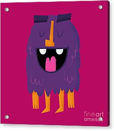 Vector Set Of Cartoon Cute Character Acrylic Print