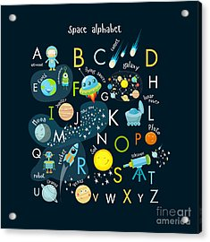 Vector Space Alphabet Acrylic Print