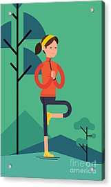 Vector Sport Young Woman Character Acrylic Print