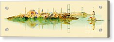 Vector Water Color Illustration Acrylic Print