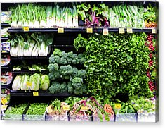 Vegetables On Display In A Supermarket Acrylic Print