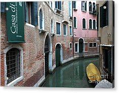 Venetian Streets -canals. Carlo Galdoni Museum Acrylic Print