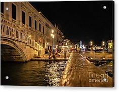 Venice At Night. San Marco Acrylic Print
